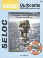 Seloc Suzuki Outboards, 1988-99 Repair Manual
