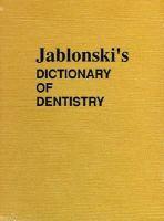Jablonski's Dictionary of Dentistry