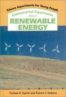 Environmental Experiments About Renewable Energy