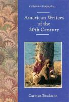 American Writers of the 20th Century