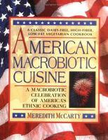 American Macrobiotic Cuisine