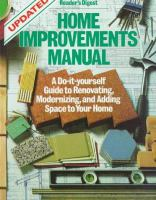 Reader's Digest Home Improvements Manual