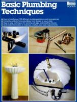 Basic Plumbing Techniques