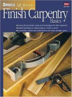 Ortho's All About Finish Carpentry Basics