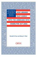 How Libraries Must Comply With the Americans With Disabilities Act (ADA)