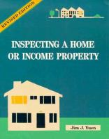 Inspecting A Home or Income Property