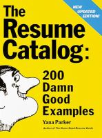 The Resume Catalog
