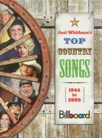 Joel Whitburn's Top Country Songs