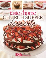 Church Supper Desserts