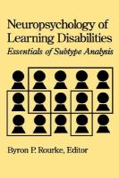 Neuropsychology of Learning Disabilities