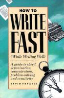 How To Write Fast (while Writing Well)