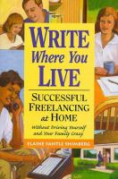 Write Where You Live