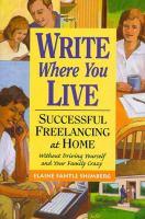 Write Where You Live