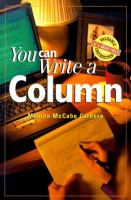 You Can Write A Column