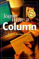 You Can Write A Column