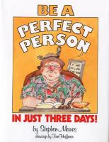 Be A Perfect Person in Just Three Days!