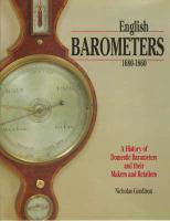 English Barometers, 1680-1860