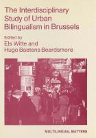 The Interdisciplinary Study of Urban Bilingualism in Brussels
