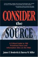 Consider the Source