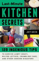 Last-minute Kitchen Secrets