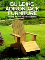 Building Adirondack Furniture
