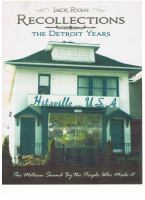 Recollections, the Detroit Years