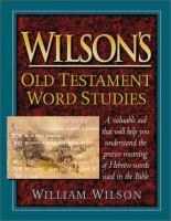 Wilson's Old Testament Word Studies