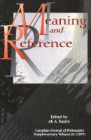 Meaning and Reference (Canadian Journal of Philosophy. Supplementary Volume, 0229-7051 ; 23)
