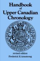 Handbook of Upper Canadian Chronology