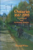 Ontario, 1610-1985