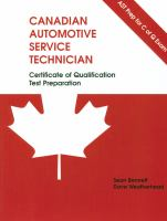 AST PREP Certificate of Qualification for Canadian Automotive Service Technicans