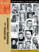 Influential and Intriguing Canadians