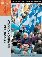Nationalism and French Canada