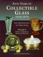 Fifty Years of Collectible Glass, 1920-1970