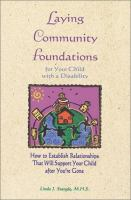 Laying Community Foundations for your Child With A Disability