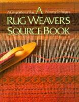 A Rug Weaver's Source Book