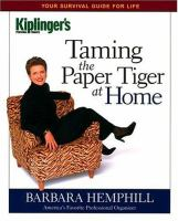 Taming the Paper Tiger at Home