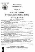 Mineral-water Interface Geochemistry