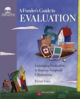 A Funder's Guide to Evaluation