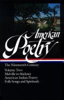 American Poetry, the Nineteenth Century