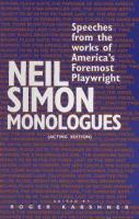 Neil Simon Monologues