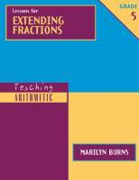 Lessons for Extending Fractions