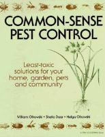 Common-sense Pest Control
