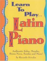 Learn to play-- Latin piano