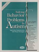 Solving Behavior Problems in Autism