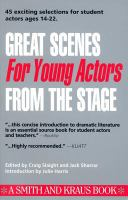 Great Scenes for Young Actors From the Stage