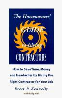 The Homeowners' Guide to Hiring A Contractors