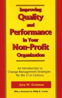 Improving Quality and Performance in your Non-profit Organization