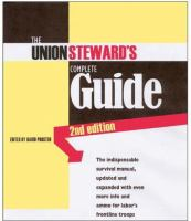 The Union Steward's Complete Guide