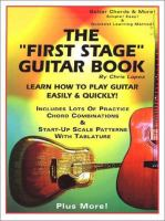 """The """"first Stage"""" Guitar Book"""